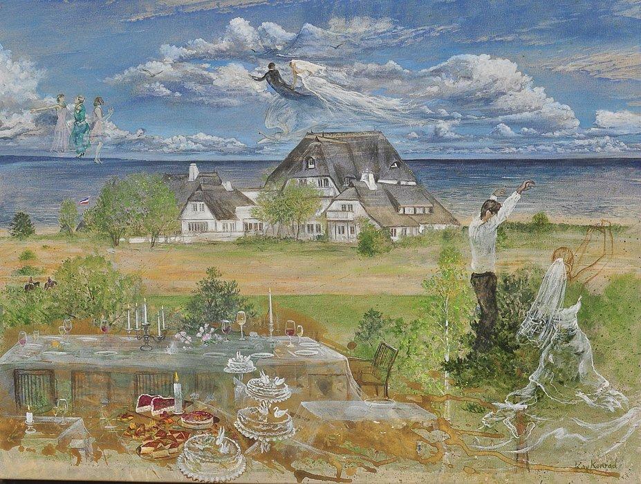 Hochzeit an der Ostsee: Acryl auf Leinwand 60 / 80 cm
