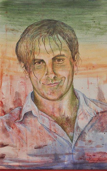 Portrait Aguilan: Acryl auf Leinwand 50 / 60 cm