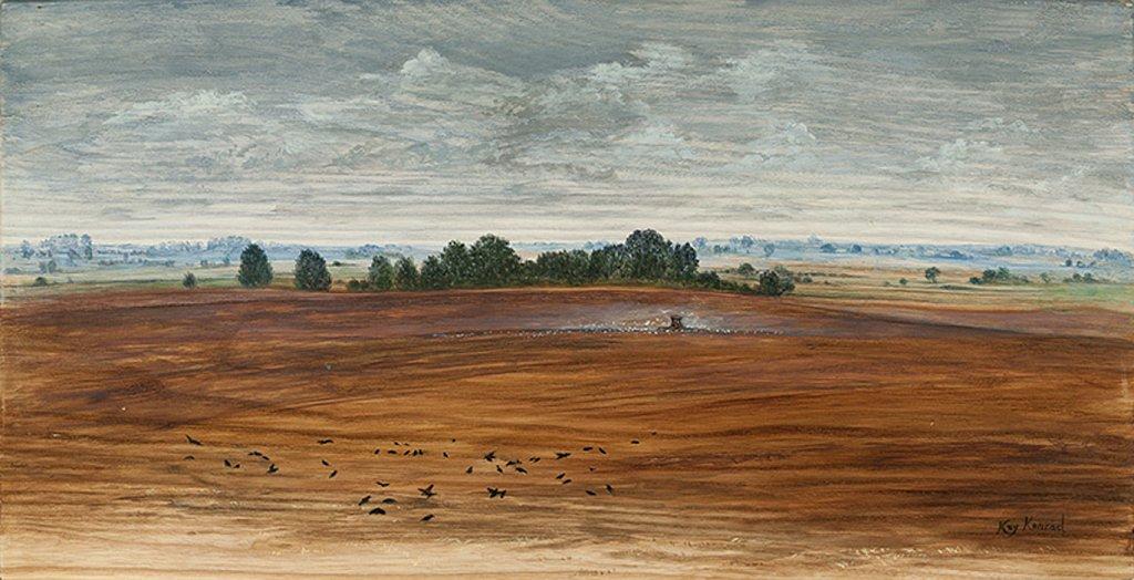 Herbst: Acryl auf Eschenholz 17 / 29 cm