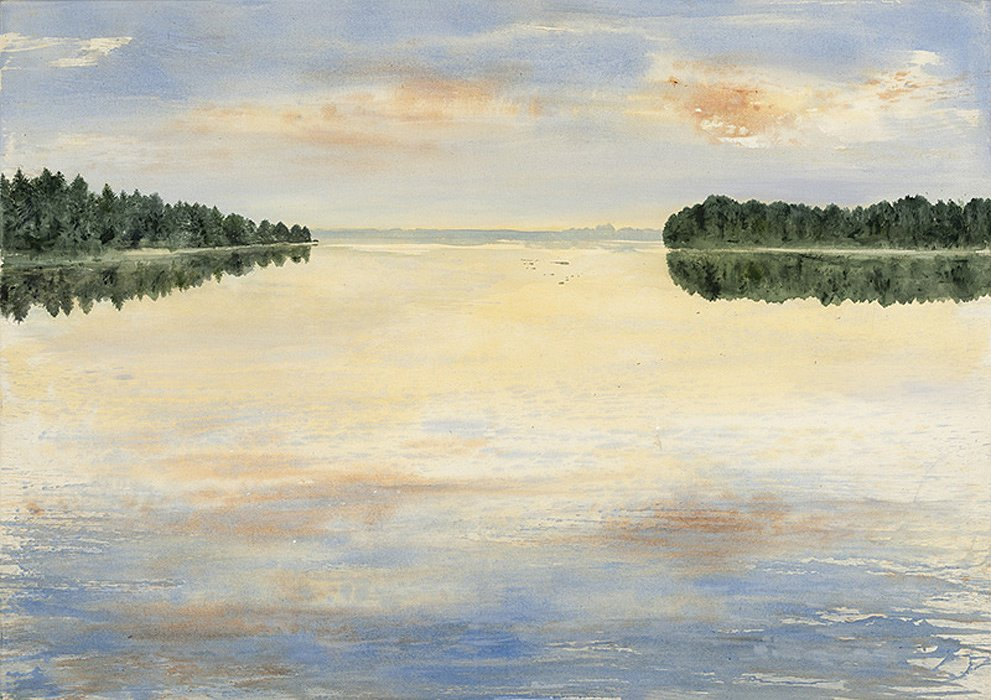 Seenplatte Mecklenburg: Acryl auf Leinwand 120 / 170 cm