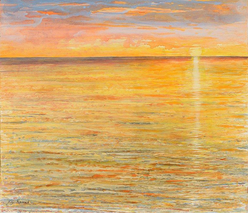 Ostsee in Flammen: Acryl auf Leinwand 60 / 70 cm