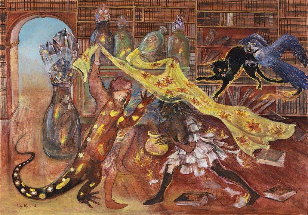 Die Schlacht im Bibliothekszimmer
