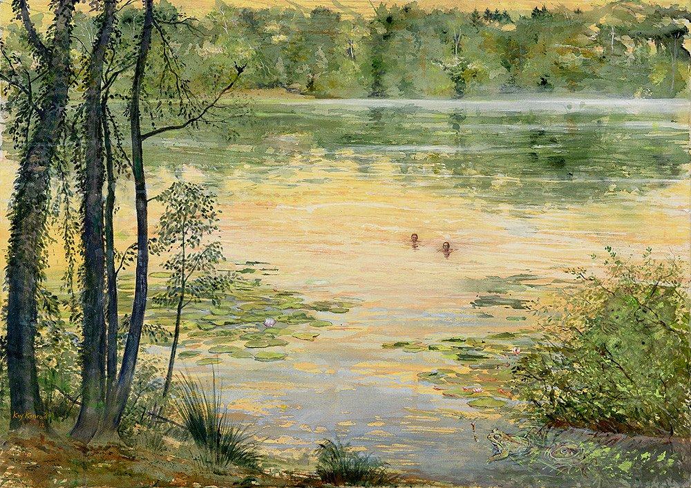 verwunschener Teich: Acryl auf Leinwand 60 | 80 cm