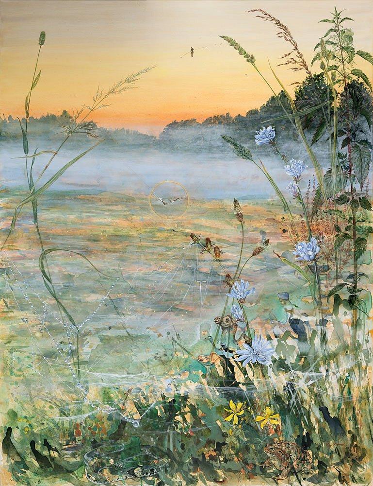 Morgenzirkus: Acryl auf Leinwand 100 / 130 cm