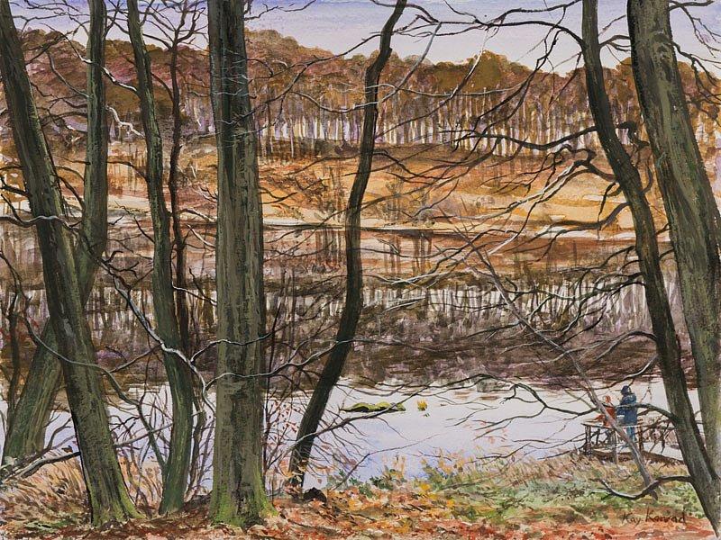 Herthasee Nationalpark Jasmund: Gouache