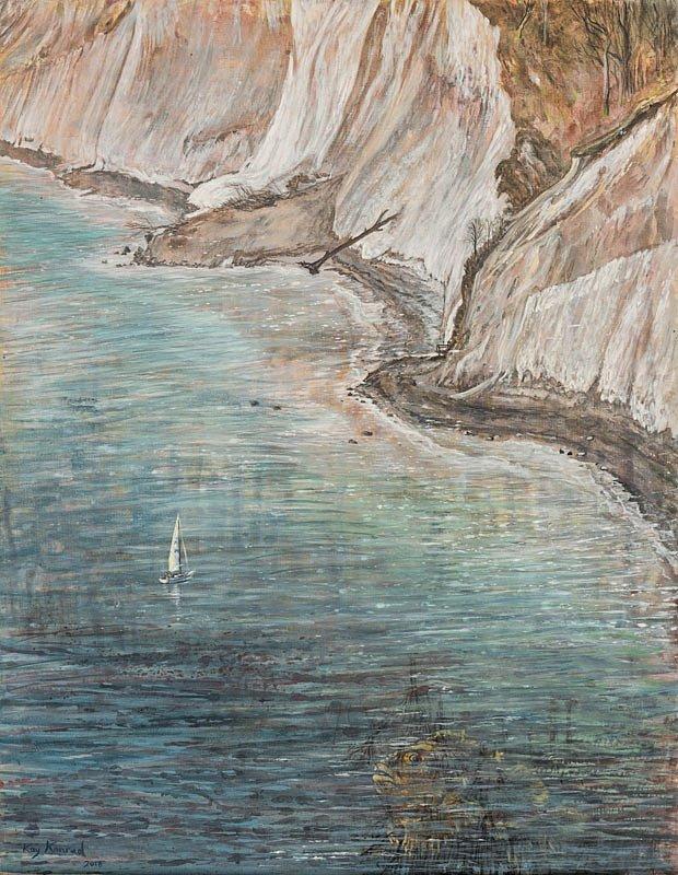Buttje Buttje in der See: Nationalpark Jasmund Acryl auf Leinwand 50/60 cm