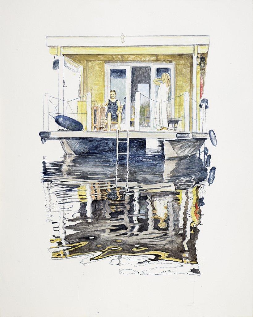 Good Day Sunshine: Acryl auf Leinwand 100 / 80 cm