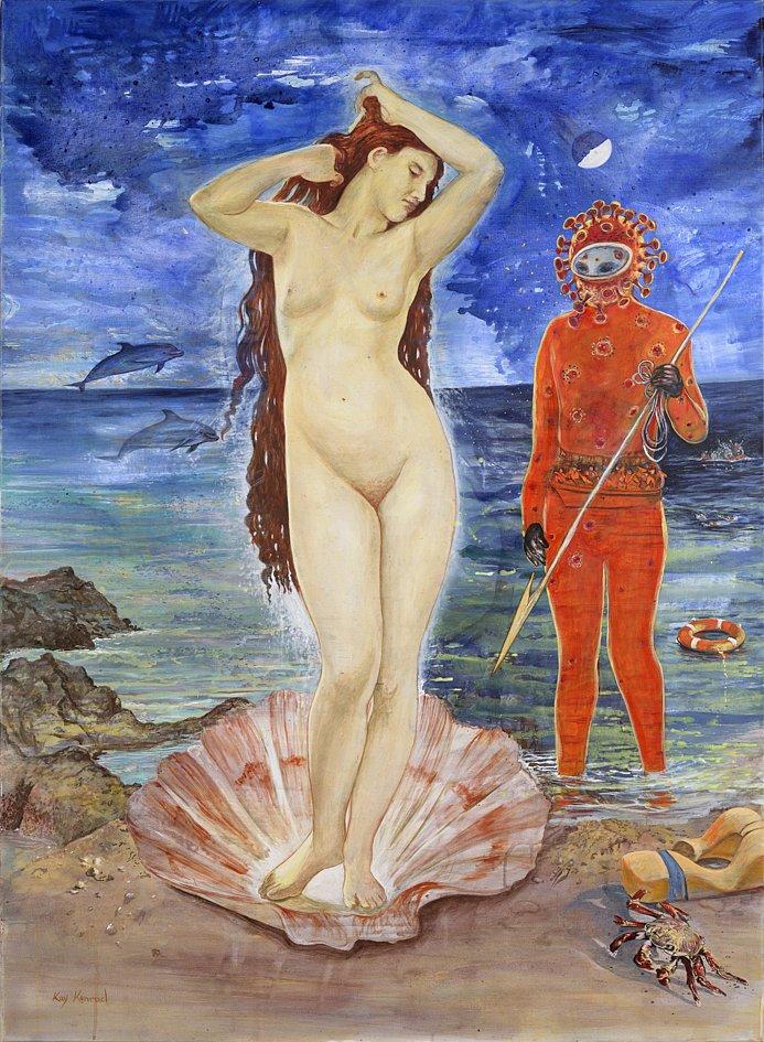 Venus Attac: Acryl auf Leinwand 100 /150 cm